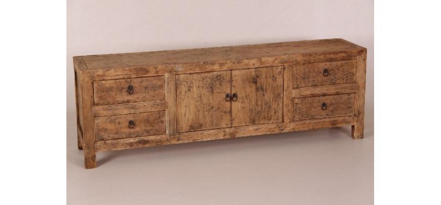 fernsehschrank rustikale lowboards aus recycletem holz tv. Black Bedroom Furniture Sets. Home Design Ideas